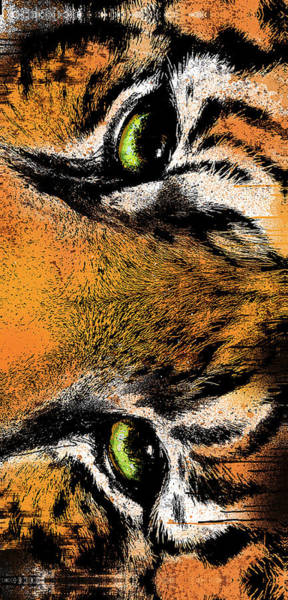 Tiger Digital Art - Eye Of The Tiger by Canvas Cultures