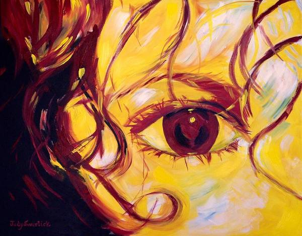 Wall Art - Painting - Eye Of The Tiger by Judy Swerlick