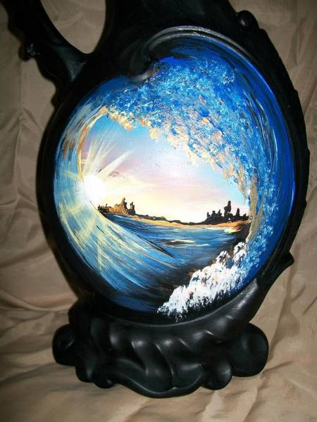Painting - Eye Of The Wave 1 by Sharon Duguay