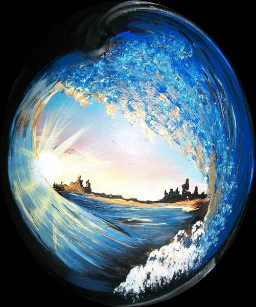 Painting - Eye Of The Wave by Sharon Duguay