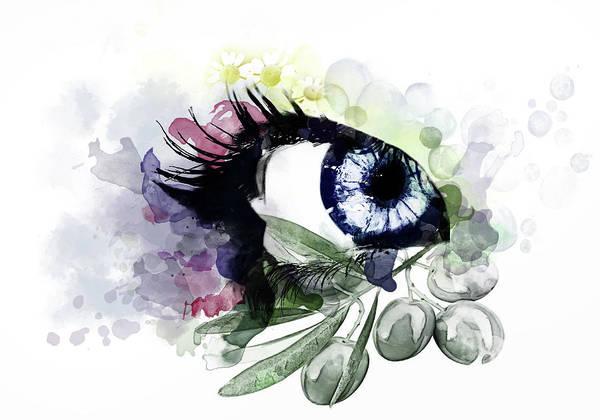 Olive Branch Digital Art - Eye by Photo Design AJ