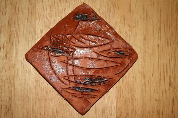 Ceramic Art - Eye Solo - Tile by Gloria Ssali