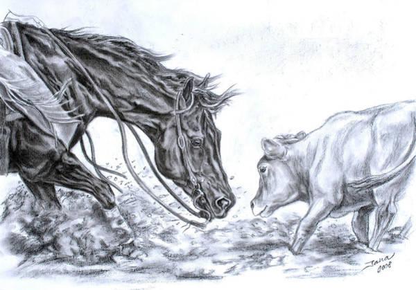 Horse Drawing - Eye To Eye by Jana Goode
