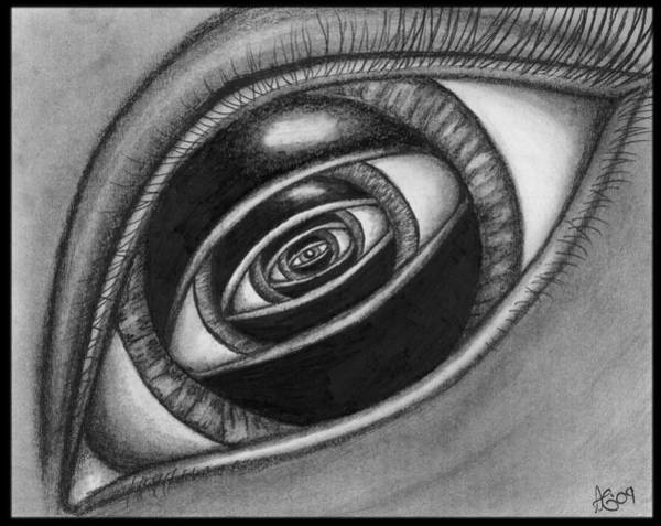 Wall Art - Drawing - Eye With An Eye by Alycia Ryan
