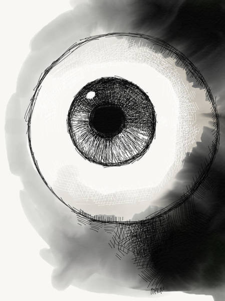 Wall Art - Digital Art - Eyeball by Antonio Romero