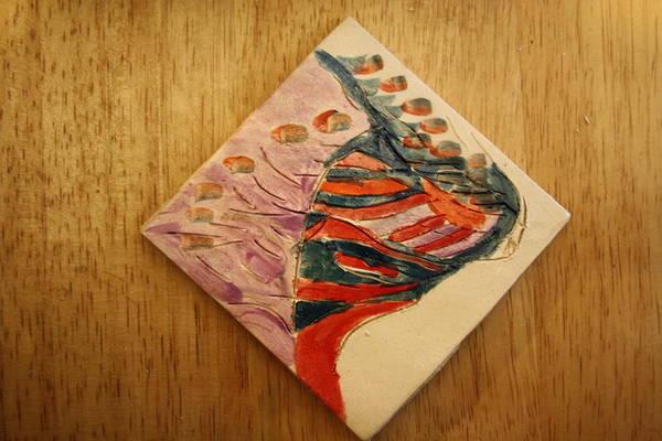 Ceramic Art - Eyes Above - Tile by Gloria Ssali