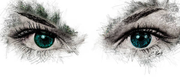 Digital Art - Eyes by Charlie Roman