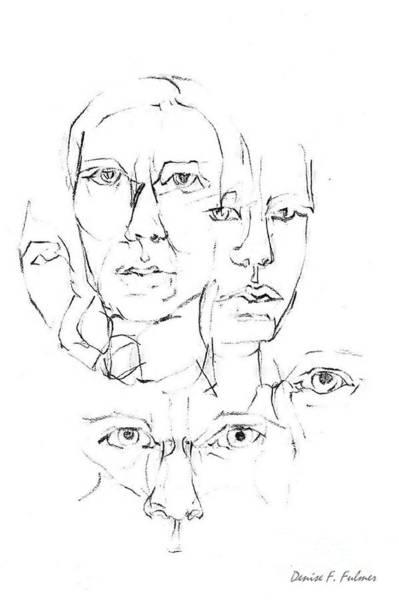 Drawing - Eyes by Denise F Fulmer