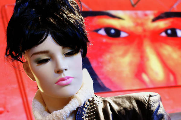 Juxtaposition Photograph - Eyes - Mannequin - Poster by Nikolyn McDonald