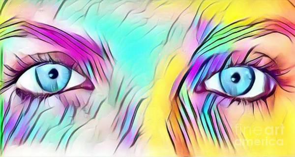 Sultry Digital Art - Eyes Of A Goddess - Quenn Of Rainbows  by Scott D Van Osdol