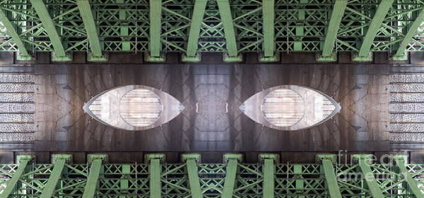 Manipulated Digital Art - Eyes Of Bridge by Michal Boubin