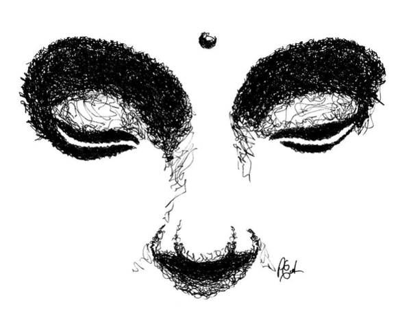 Drawing - Eyes Of Buddha by Peter Cutler