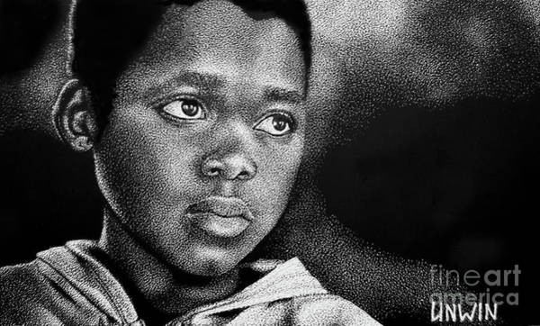 Scratchboard Wall Art - Drawing - Eyes Of Innocence by Sheryl Unwin