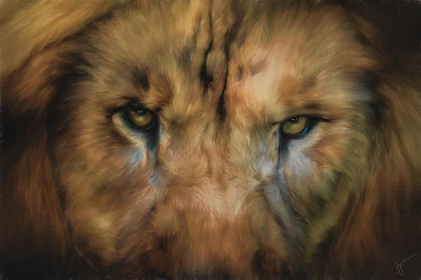 Painting - Eyes Of The Master Lion Art by Jai Johnson