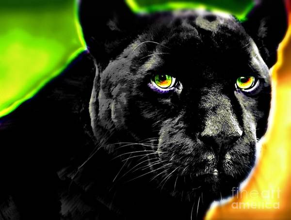 Black Panther Mixed Media - Eyes Of The Panther by Wbk