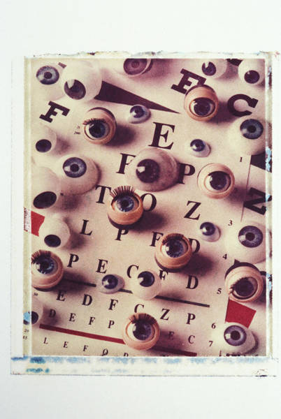 Eyelashes Wall Art - Photograph - Eyes On Eye Chart by Garry Gay