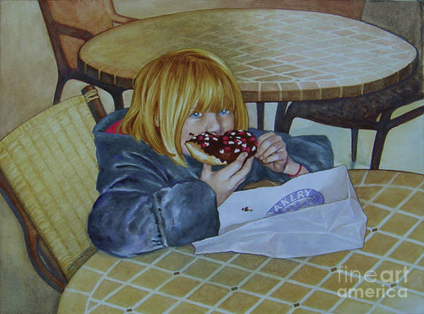 Doughnut Painting - Eyes Over Stomach by Maggie Huft