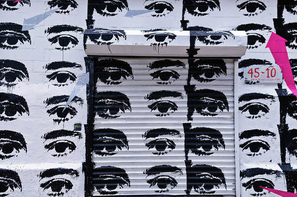 Photograph - Eyes Street Art by Louis Dallara