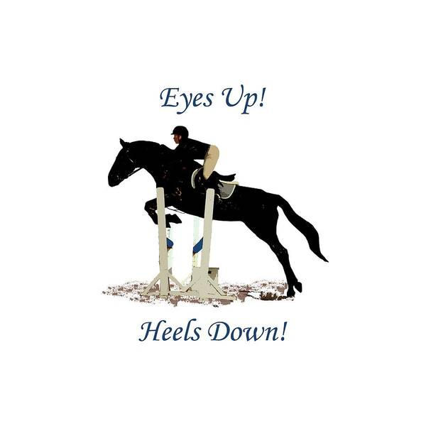 Digital Art - Eyes Up, Heels Down Horse by Patricia Barmatz