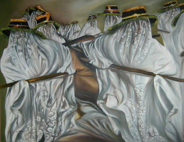 Lagos Painting - Eyo Masquerade by Olaoluwa Smith