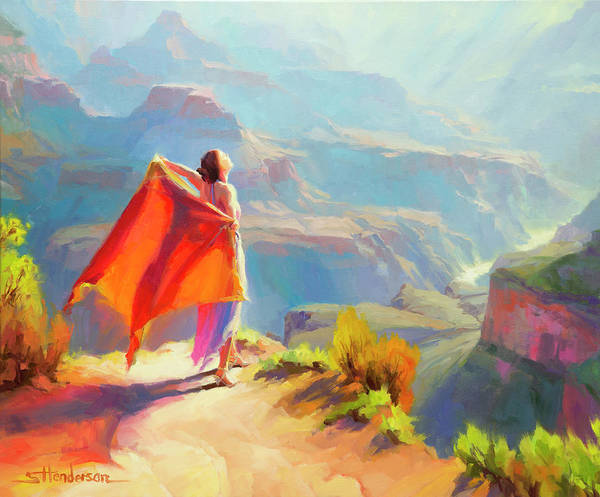 Worship Wall Art - Painting - Eyrie by Steve Henderson