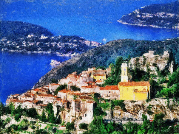Painting - Eze And Cap Ferrat by Dean Wittle