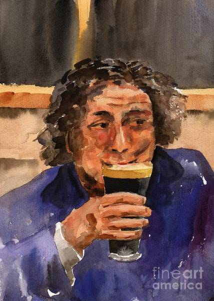 Painting - F 821  The Pint Man by Val Byrne