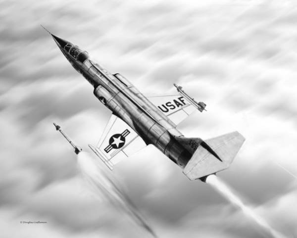 Drawing - F-104a Starfighter by Douglas Castleman