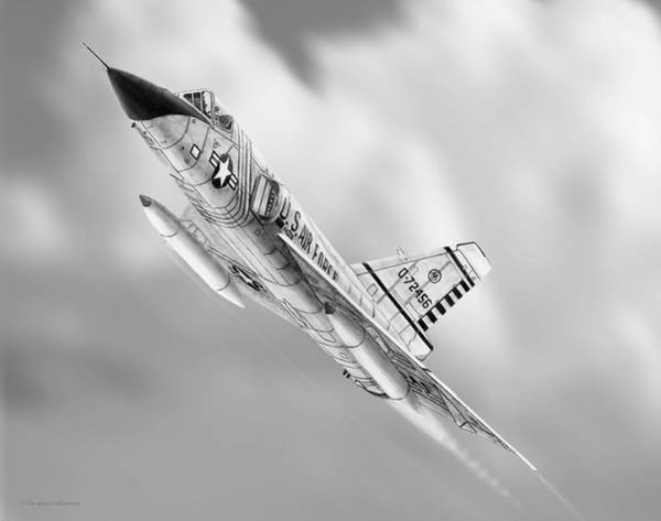 Drawing - F-106a Drawing by Douglas Castleman