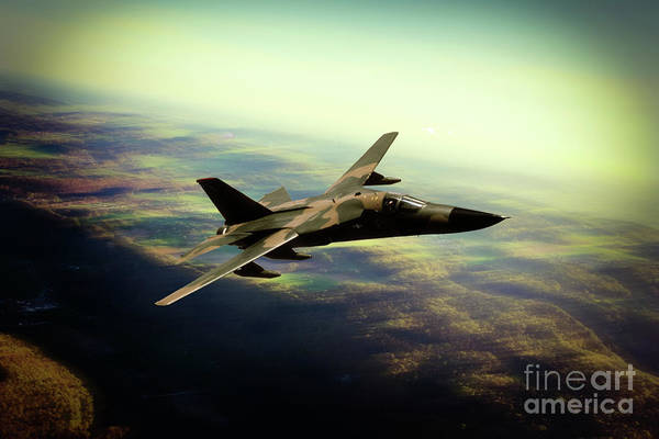 General Dynamics Digital Art - F-111 Aarvark by J Biggadike