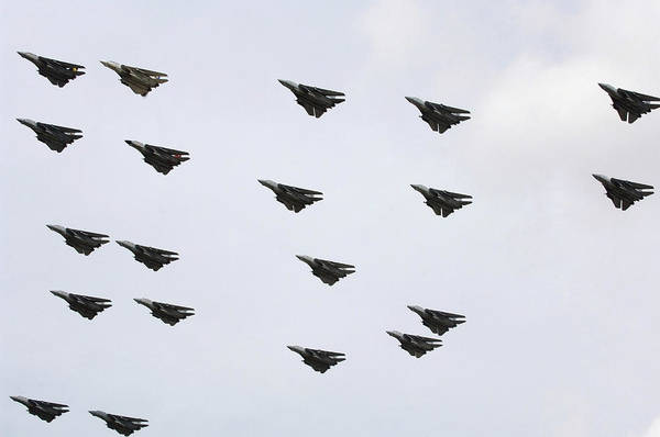 Photograph - F-14d Tomcats Conduct A Flyover by Stocktrek Images