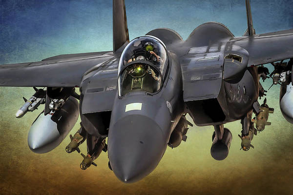 War Eagle Photograph - F-15 Eagle Up Close And Personal by Steve Whitham