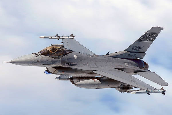 Photograph - F-16-1 by Herb Paynter