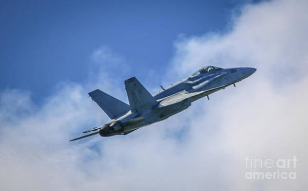 Photograph - F-18 Into The Clouds by Tom Claud