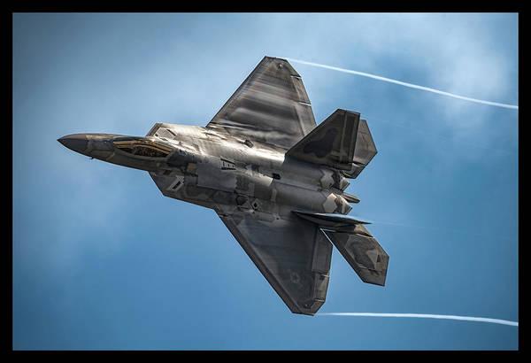 Military Air Base Photograph - F-22 Raptor by Robert Fawcett