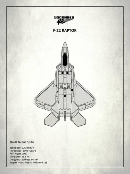 Wall Art - Photograph - F-22 Raptor - White by Mark Rogan
