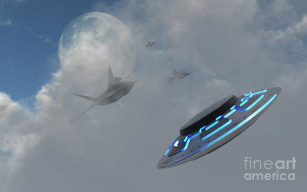 Extraterrestrial Digital Art - F-22 Stealth Fighter Jets On The Trail by Mark Stevenson