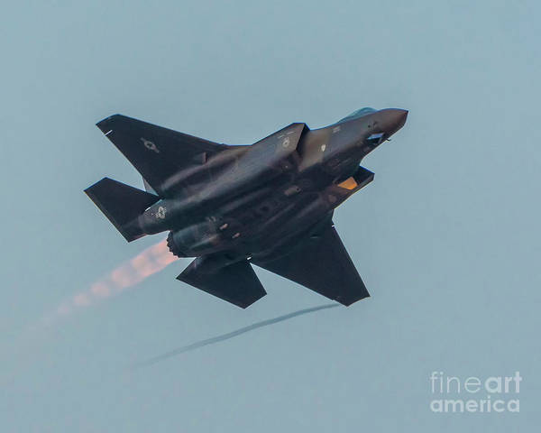 Vape Photograph - F-35 Afterburner And Vape In The Abby Twilight by Joe Kunzler