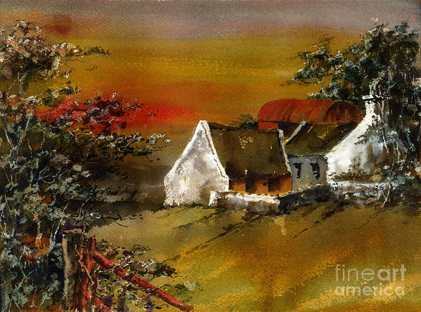 Painting - F 832 Glencree Sunset Wicklow by Val Byrne