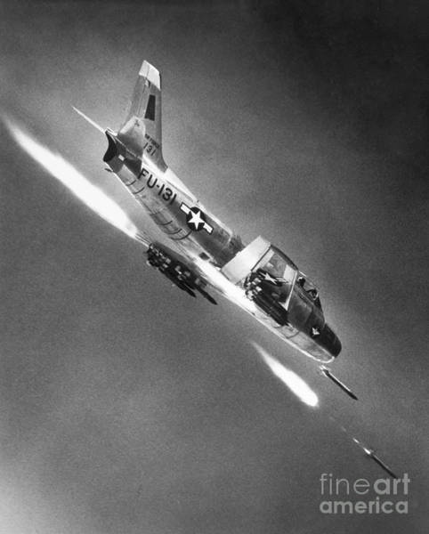 Photograph - F-86 Jet Fighter Plane by Granger