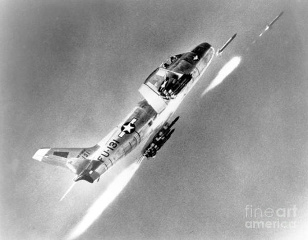 Photograph - F-86 Sabre, First Swept-wing Fighter by Science Source