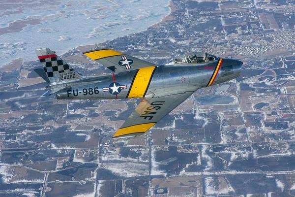 F-86 Sabre Flying 2 Art Print