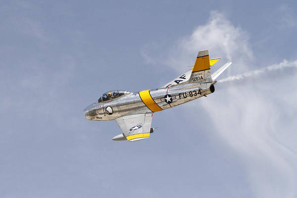 Wall Art - Pyrography - F-86 Sabre by Shoal Hollingsworth