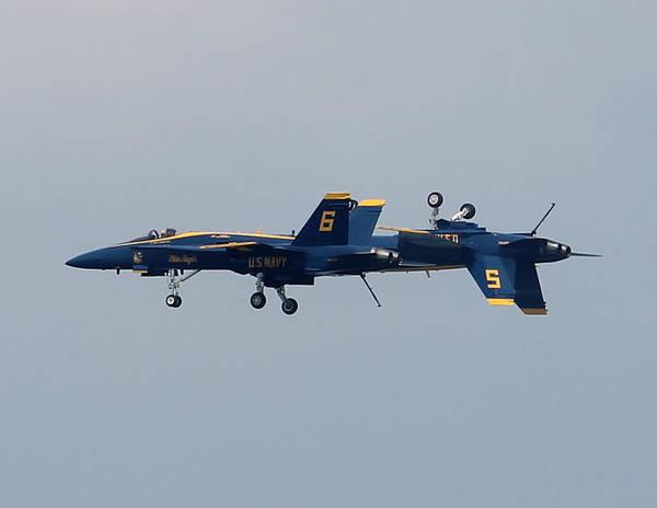 Photograph - F/a 18 Hornet In Tandem by Robert Banach