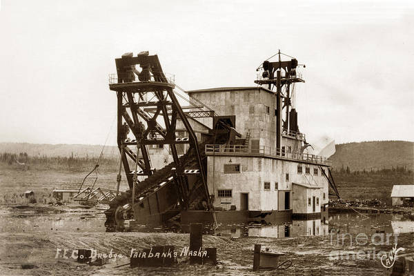 Photograph - F. E. Co, Gold Drege No. 4 Near Fairbanks Alaska Circa 1958 by California Views Archives Mr Pat Hathaway Archives