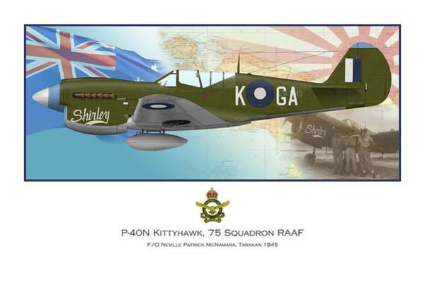 Royal Air Force Digital Art - F/o Neville Patrick Mcnamara by Mark Donoghue