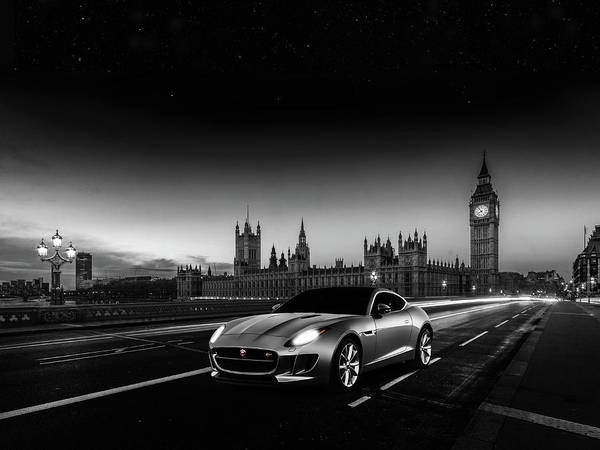 Westminster Bridge Photograph - F-type In London by Mark Rogan