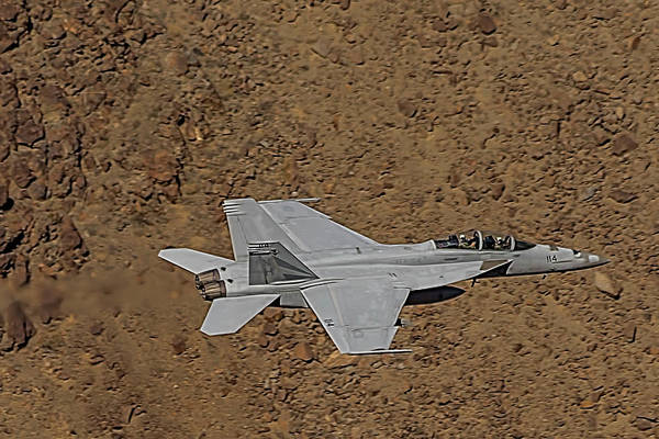 Photograph - F18 Lightning In Star Wars Canyon by Bill Gallagher