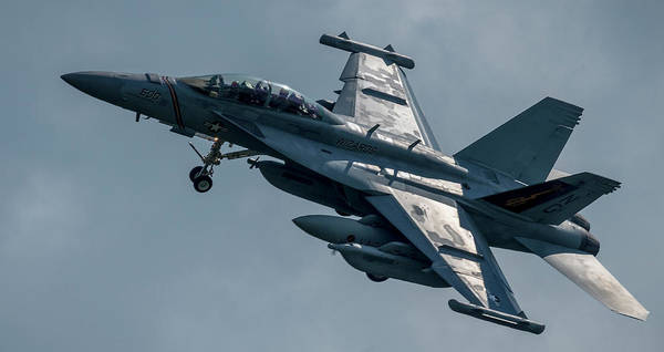 Photograph - Boeing Ea-18g Growler Over Head by Philip Rispin