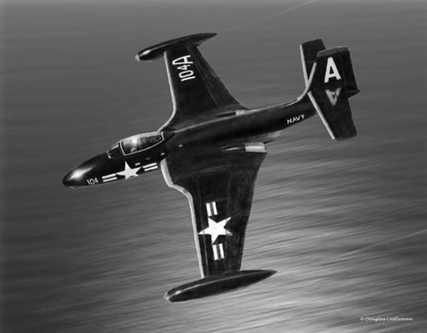 Drawing - F2h Banshee by Douglas Castleman